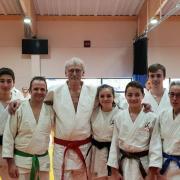 Judo Club Saint Amans avec Jean Luc Rougé Président FFJDA