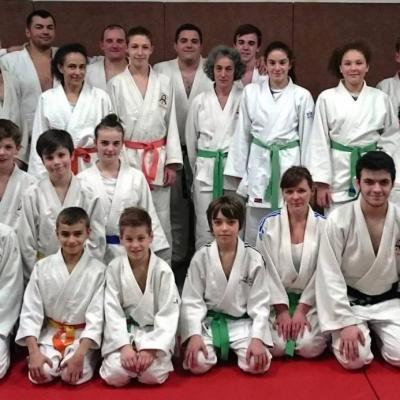 Entraînement en commun Judo St Amans / MJC Saint Baudille