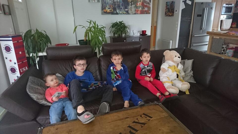 Jean Marcel avec Nolan, Andy et Enzo