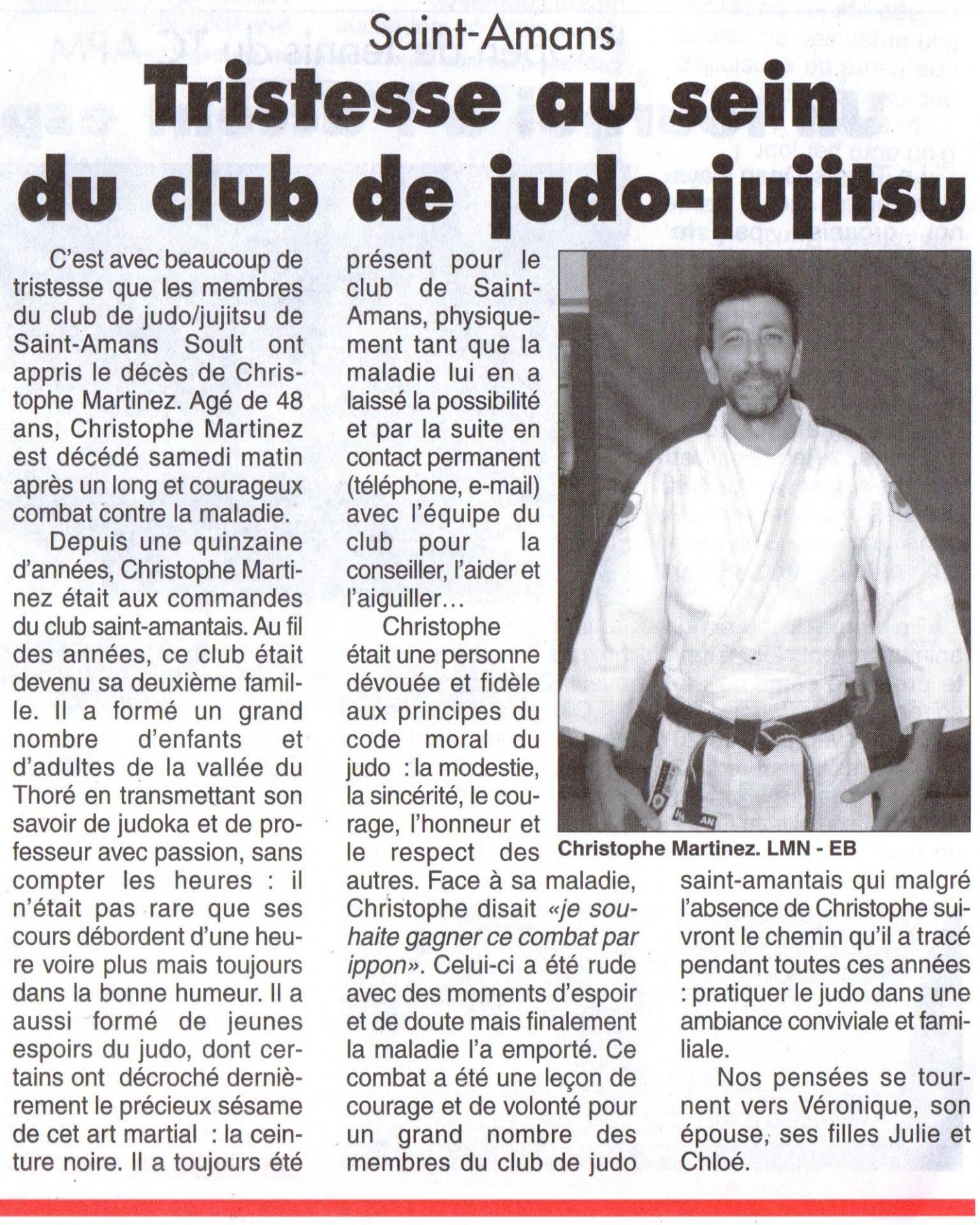 Article Christophe Montagne Noire