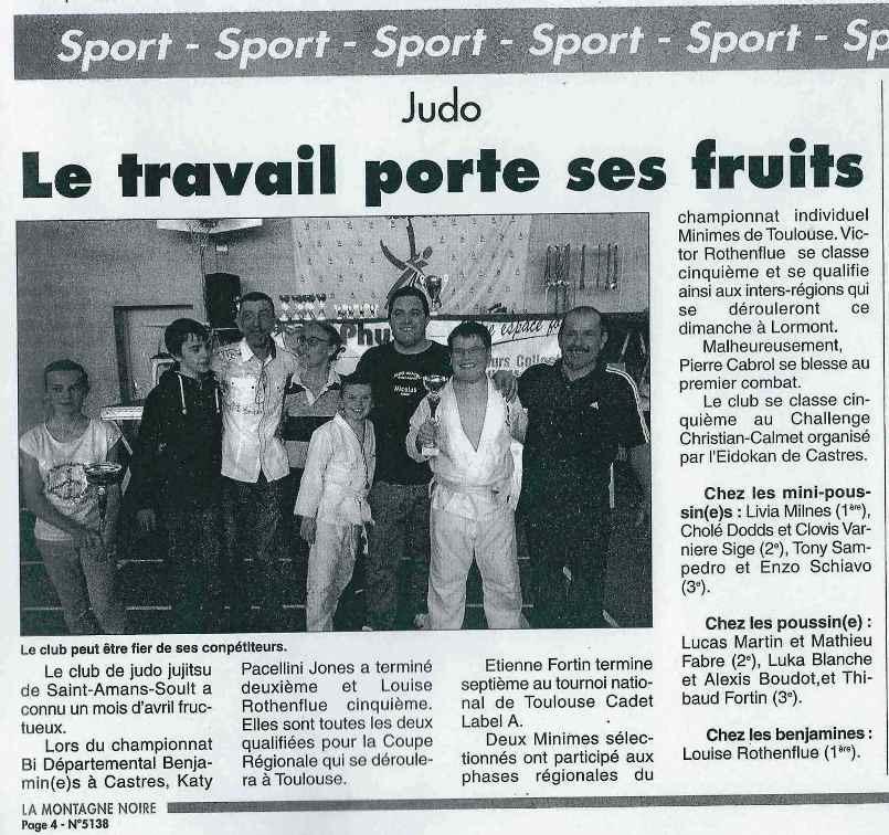 Article Montagne Noire mai 2014