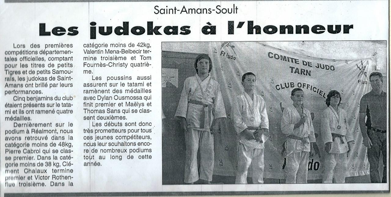 Les judokas à l'honneur